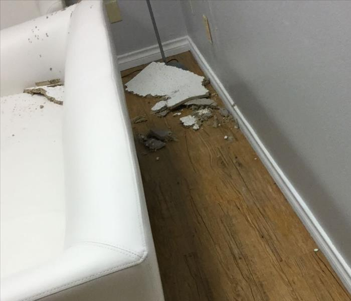 Water Damage in a North Dallas Commercial Building  Before