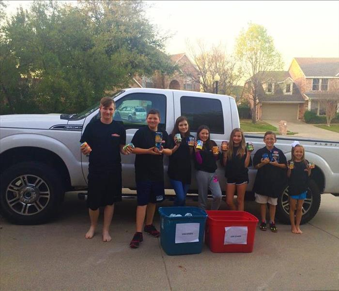 Community SERVPRO Canned Food Collection in McKinney, TX for Metrocrest Social Services