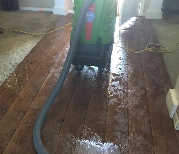 water on hardwood floors