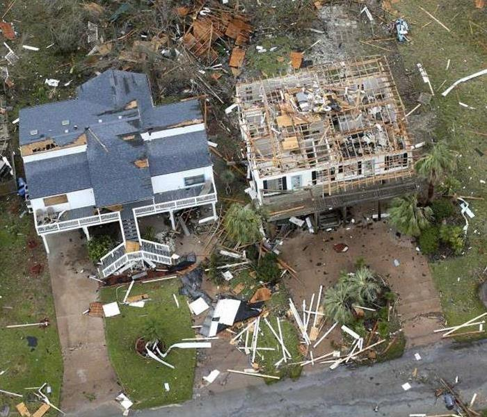 Homes that were affected by a storm