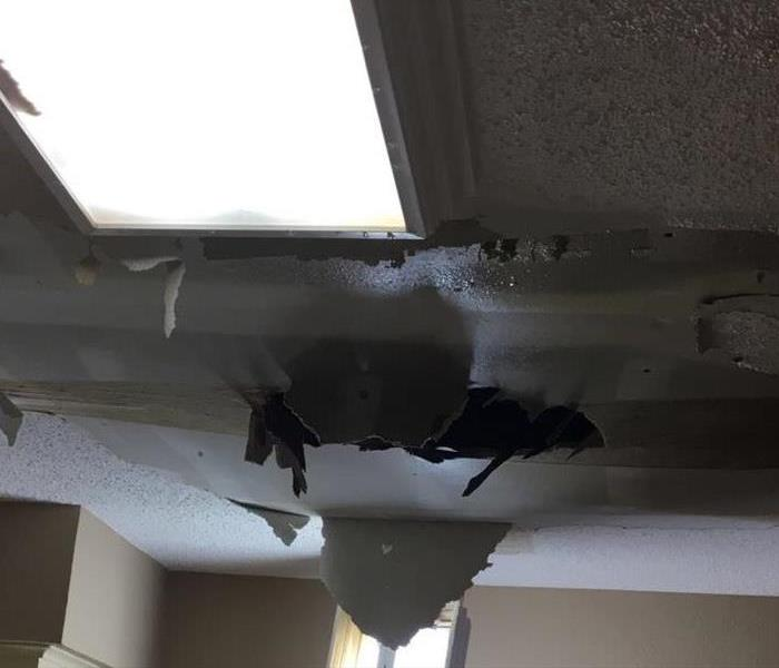 Water Damage What should I do when I see water leaking from my ceiling?